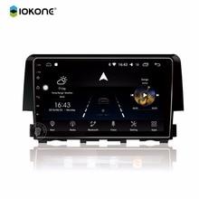 IOKONE Car android 8.0 multimedia player 8 core DVD radio stereo 2 din GPS radio IPS 2.5D screen 9 inch autonavi for Honda Civic