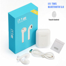 Bluetooth 5.0 i11 TWS Wireless Headphones Bluetooth Headset Sport True Wireless Earbuds Handsfree Stereo Earphone With MiC 2017 newest k6 business bluetooth earphone headphones stereo wireless handsfree car driver bluetooth headset with storage box