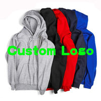 High Quality Cotton Your Own Logo Custom Hoodie Pullover Women Men Black Grey Red Navy Blue