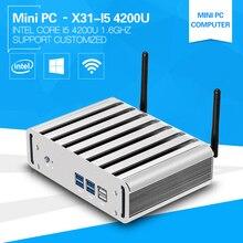 Новый мини-компьютер Windows 10 8 г ОЗУ i5 4200U 1.6 ГГц двухъядерный настольных ПК с HDMI + VGA USB3.0 128 г черный металл строить-в-Wi-Fi