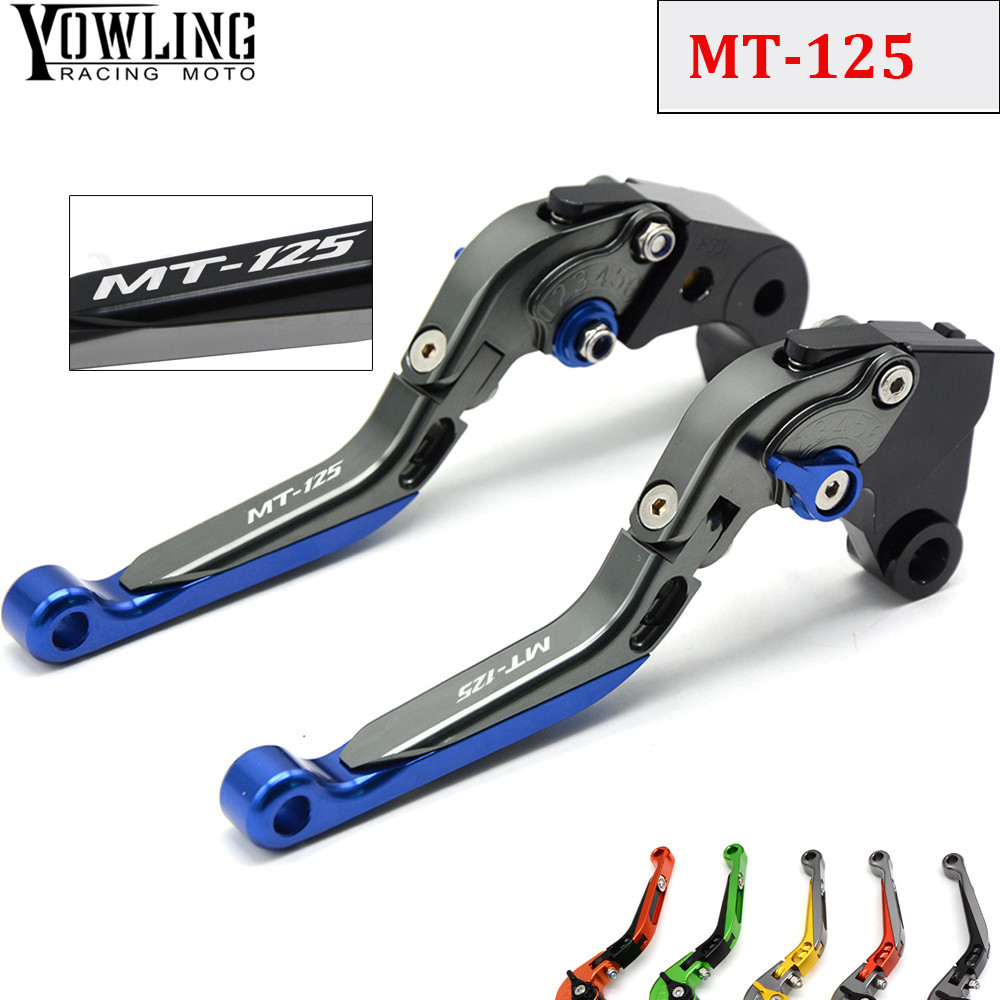 MT 125 Motorcycle Accessories CNC Folding Extendable Adjustable Brakes Clutch Levers For YAMAHA MT-125 MT125 2014 2015 2016 2017 motorcycle brake clutch levers for honda grom msx 125 2014 2015 2016 2017 adjustable folding extendable levers set 125 msx grom