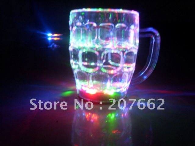 Free shipping 30pcs/lot 350ML/12OZ 10*7*6cm cocktail glass led shot cup flashing glass flashing barware for club party