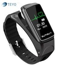 Teyo Smartband B7 Heart Rate Monitor Музыка Браслет Шагомер Фитнес-Трекер Pulsera Inteligente Умный Браслет Для Android IOS