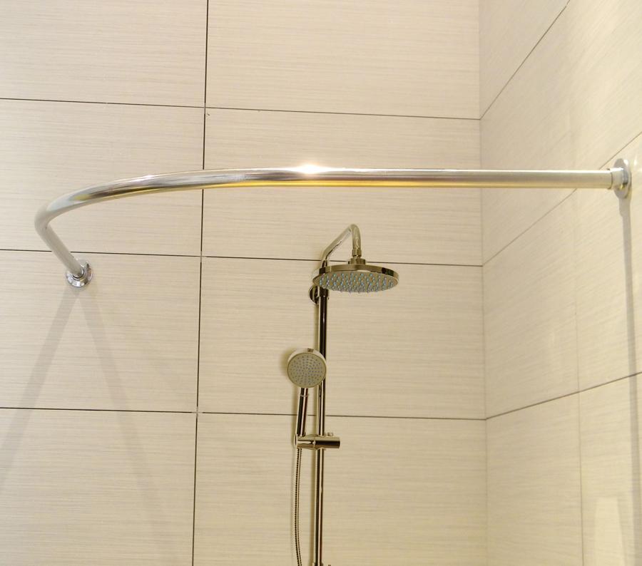 Cuarto de ba o ducha barra de la cortina curva arco l acero inoxidable de ducha cortina espesada - Cortina bano curva ...