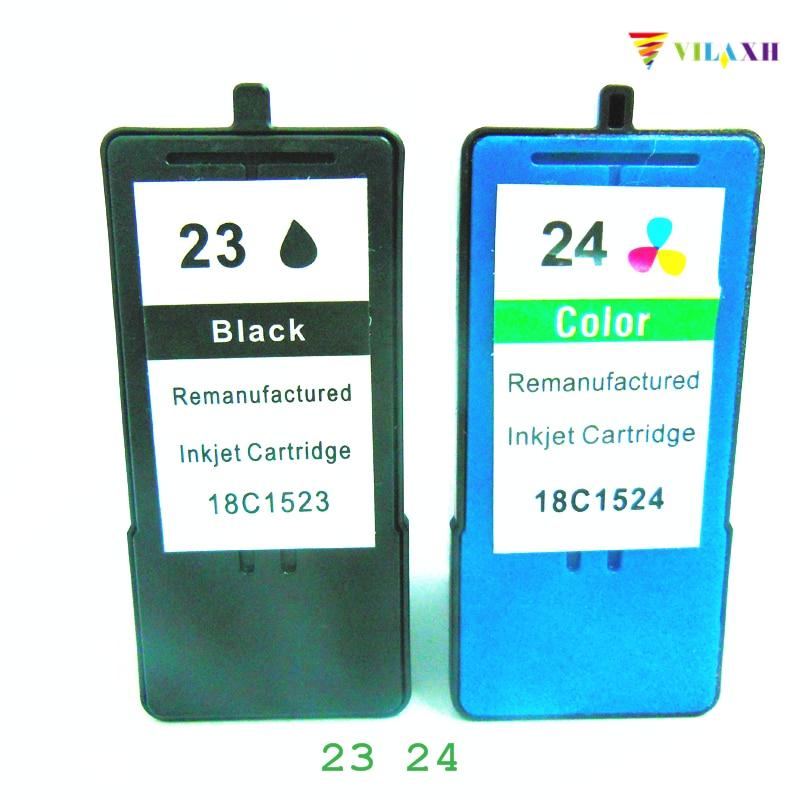 vilaxh Lexmark 23 24 tintes kasetne Lexmark Z1420 X4550 X3550 Z1410 X3530 X4530 printerim