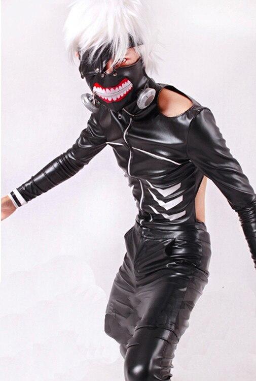 Free shipping Anime Tokyo Ghoul Kaneki Ken Cosplay Costume Cosplay Suit Mens Size S M L XL Jacket + pant