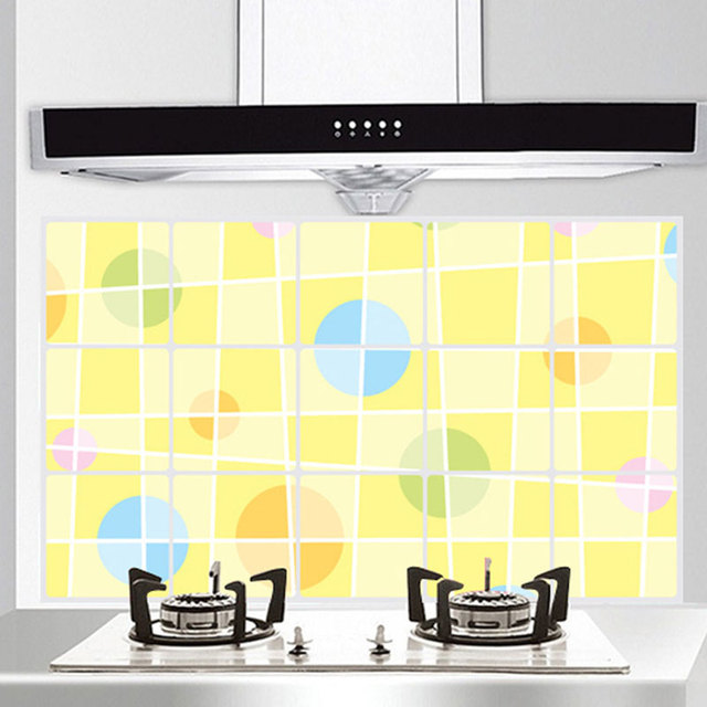 Home Decor 75*45 CM Kitchen Room Anti Oil Wall Sticker Geometry ...