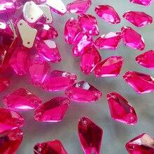 200 шт 9*14 мм розовый пришить на горный хрусталь Галактической формы акриловые камни стразовый алмазный камень