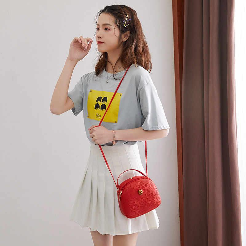 Beibaobao 2019 Moda PU LEATHER Crossbody Mini-sacos de Ombro Das Mulheres Sacos Do Mensageiro da Bolsa Lady Feminino Coroa Cabeça Do Tigre Carteira
