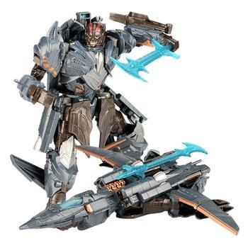 19cm Transformation Car Robot Toys Bumblebee Optimus Prime Megatron Decepticons Jazz Collection Action Figure Gift For Kids - K