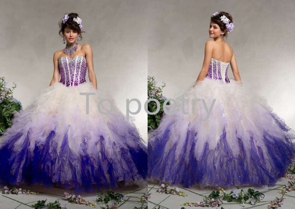 55c8ff22486 New Style Rainbow Prom Dress Quinceanera Dresses Colorful Long Sweet