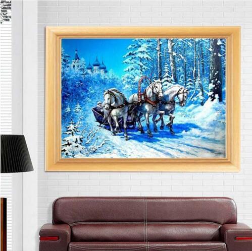 OLY-peinture au diamant Paarden broderie | Peinture cheval ronde, Kit point de croix, mosaïque, décoration de maison