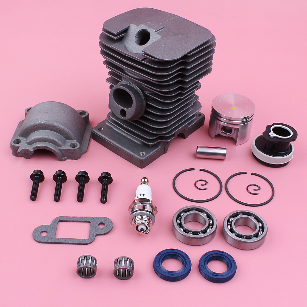 180 018 Chainsaw Cylinder Crank Piston Oil MS Stihl Kit MS180 Part 38mm Bearing Engine Spare Base Seal Pan For