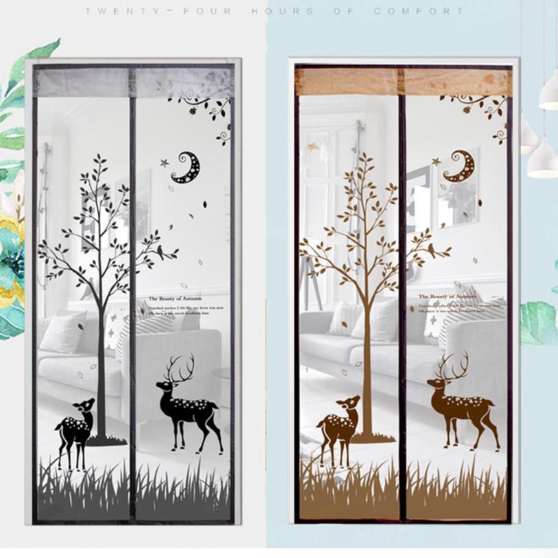 Mosquito Net Door Windows Screen Hands Free Magic Magnetic Soft Door Durable Summer Fly Screen Anti Mosquito Bug Mesh Curtain