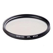 Elevação 67mm circular polarizando cpl C-PL filtro lente 67mm para canon nikon sony olympus câmera