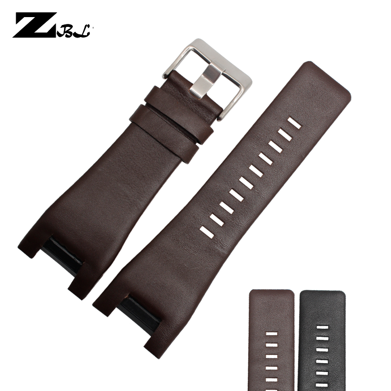 Genuine Leather Bracelet Band 32*18mm Watchstrap For Diesel Watch Strap For DZ1216 DZ4246 DZ4247 DZ287 Watch Band
