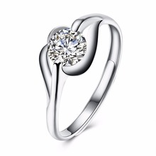 SALE wholesale Fine Jewelry Jewelry Original 100% 925 Sterling Silver Crystal From Swarovski Opening Rings Rings For GIRL Gift