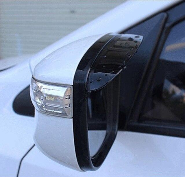 MONTFORD For Honda HR-V HRV 2014 2015 2016 ABS Plastic Side Door Rearview Mirror Cover Sticker Rain Sun Guard Window Visors 2Pcs