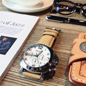 Image 4 - MEGIR New Watch Men Top Famous Brand Luxury Quartz Watches Male Clock Genuine Leather Men Water Proof Wrist Watches