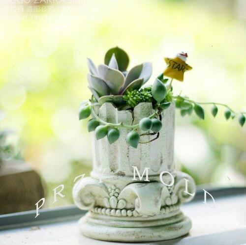 Silica gel silicone mold planter Roman column flower pots muti meat pot molds 3d vase molds