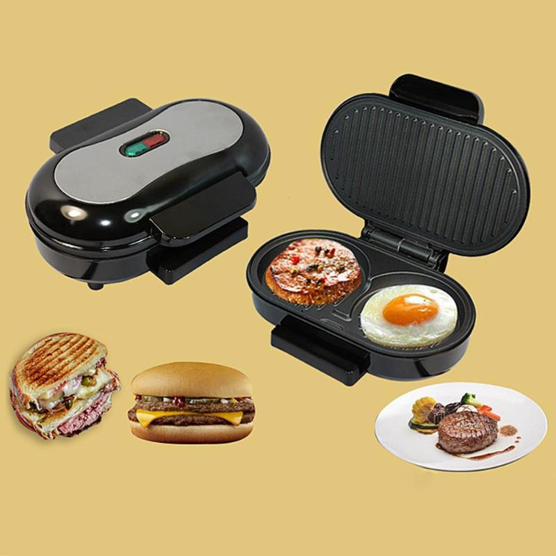 BBQ Steak Hamburger Electric Grill Meat Roaster Machine Egg Frying Pan Panini Sandwich Maker Bread Oven Breakfast Barbecue Tool