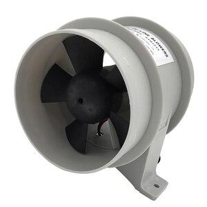 Image 4 - 高エアフロー 4 インチインラインビルジ静音送風機 12 Volt 4inch 径。ホース Ventilador silencioso 沈黙海洋ポンプ
