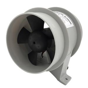 Image 4 - Yüksek hava akımı 4 inç In Line sintine sessiz fan 12 Volt 4inch Dia. Hortum Ventilador silencioso sessizlik deniz pompası