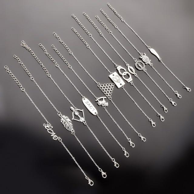 1 Pcs Fashion Round Pendant Charm animals Bracelet Couple Bracelets Jewelry Frie