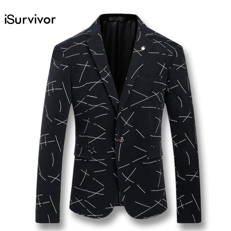 2017 New Men Long Sleeved Blazers Suits Herren Anzug Veste De Loisir Men s Casual Fashion