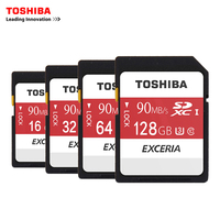 Toshiba SD Memory Card UHS U3 128Gb 90MB S 600x 16GB 32GB SDHC Card SD 64GB
