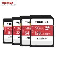 Toshiba SD карты памяти UHS U3 128 ГБ 90MBs 600×32 ГБ SDHC карты SD 64 ГБ карта SDXC флэш 16 г U1 для цифровых зеркальных Камера видеокамера DV