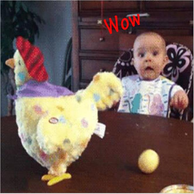 Funny Chicken font b Toy b font Trick Hen Droppin Eggs Shocker Joke Gift For Children