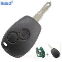 OkeyTech Dominante Alejada 433 MHz PCF7946 Transpondedor Chip de 2 Botones Sin Llave Fob para Renault Clio Megane Kangoo Logan Coche alarma