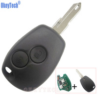 OkeyTech Remote Key 433MHz PCF7946 Transponder Chip 2 Buttons Keyless Entry Fob For Renault Megane Clio