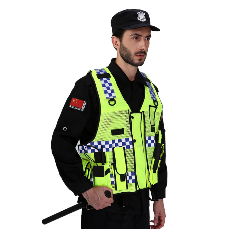 Image 2 - High visibility traffic police reflective vest with multi pockets-in Safety Clothing from Security & Protection