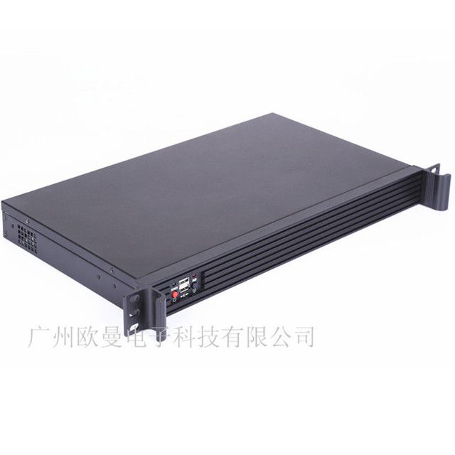 1U rack aluminum panel routing software firewall chassis ultrashort chassis 250mm deep spot
