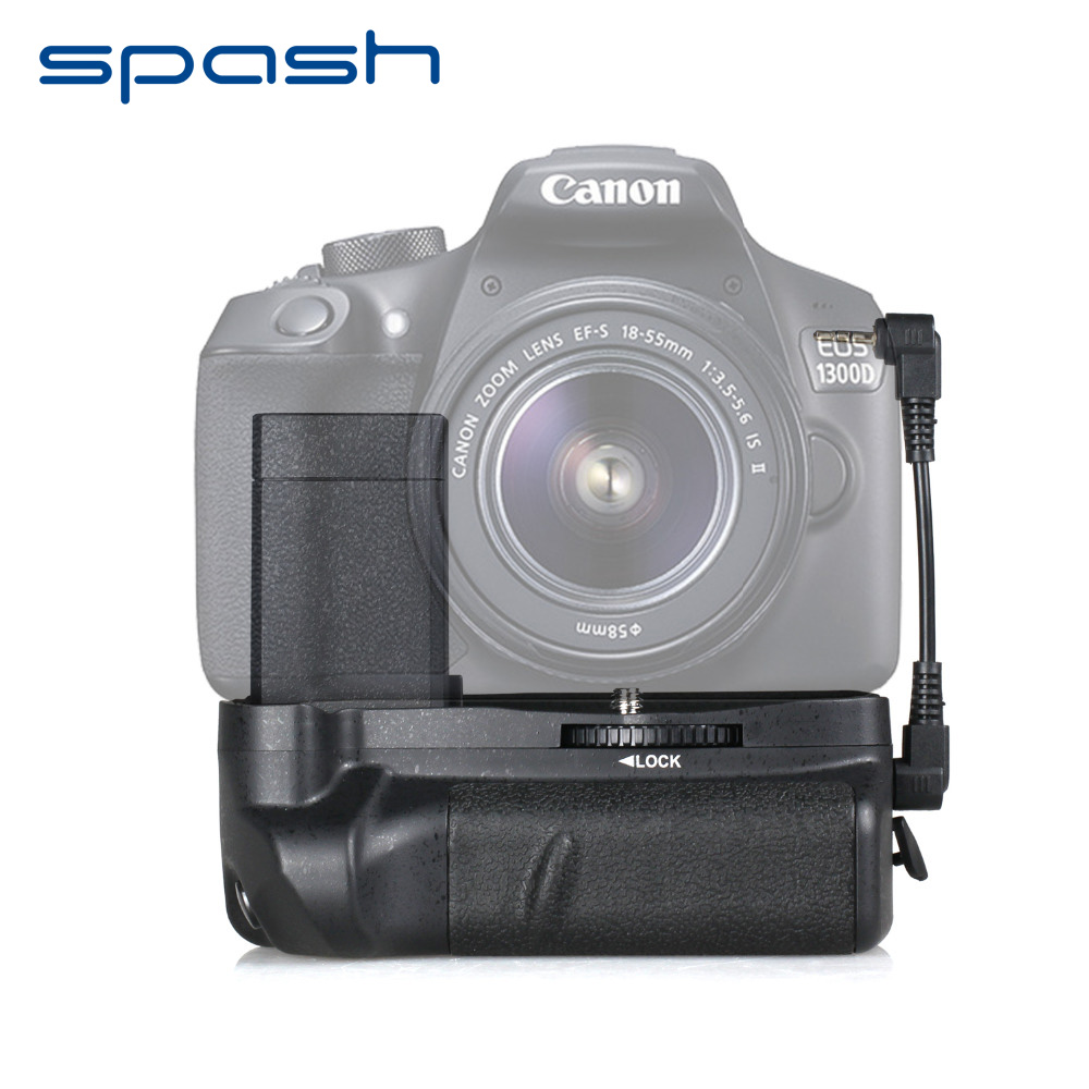 spash Multi Power Battery Grip Handgrip for Canon EOS 1100D 1200D 1300D EOS Rebel T5 T6