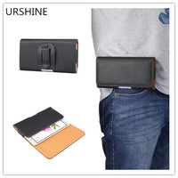 New Genuine Leather Carry Belt Clip Pouch Waist Purse Case Cover For Vkworld T6 Shockproof Wallet