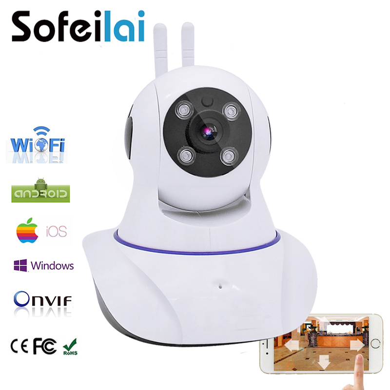 Suofeilai Wireless IP Camera 720P Home Security Pan Tilt Infrared Night Vision Two Way Audio Onvif Vedio Record Smart Monitor howell wireless security hd 960p wifi ip camera p2p pan tilt motion detection video baby monitor 2 way audio and ir night vision