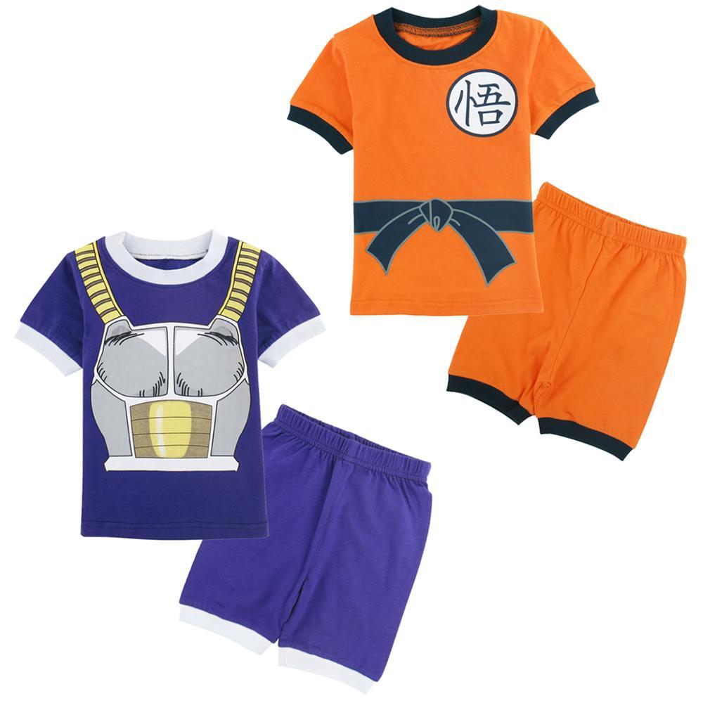 Kids Boys Dragon Ball Pyjamas Set Toddler Goku Vegeta cartoon Pajamas Baby Nightwear Homewear Cotton Clothes