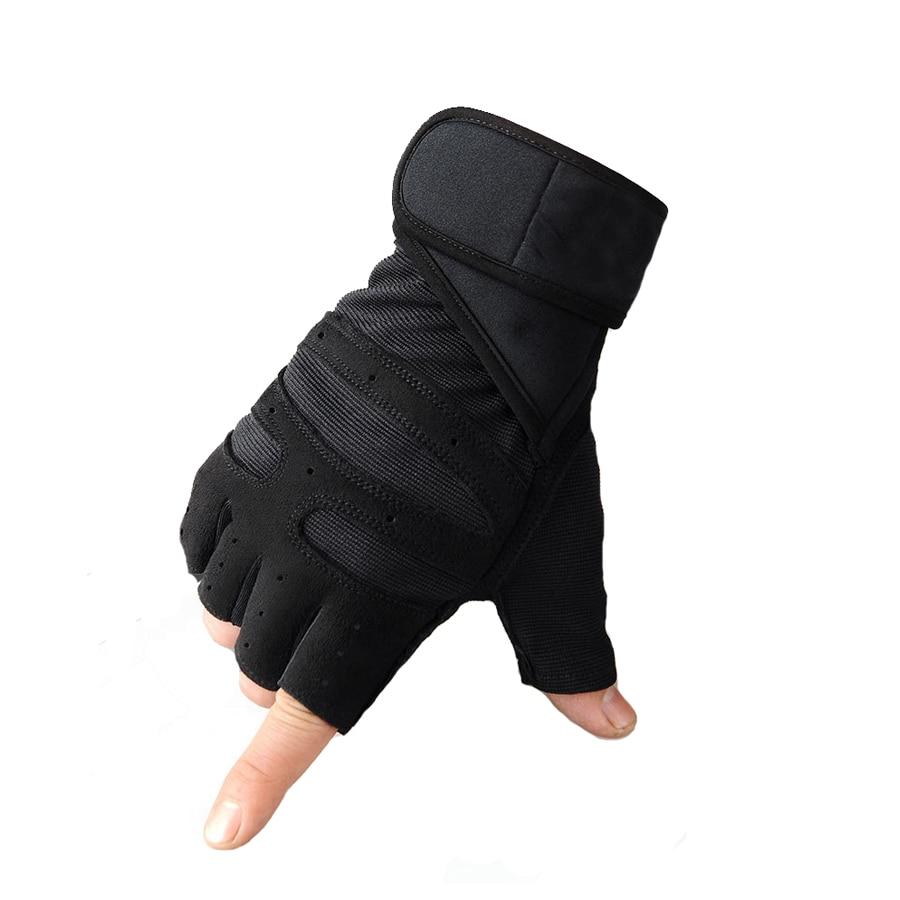 NEWBOLER велосипедные перчатки Открытый Спорт Тренажерный зал Фитнес наручи перчатки без пальцев мотоцикл велосипед Мужская половина пальцев ...