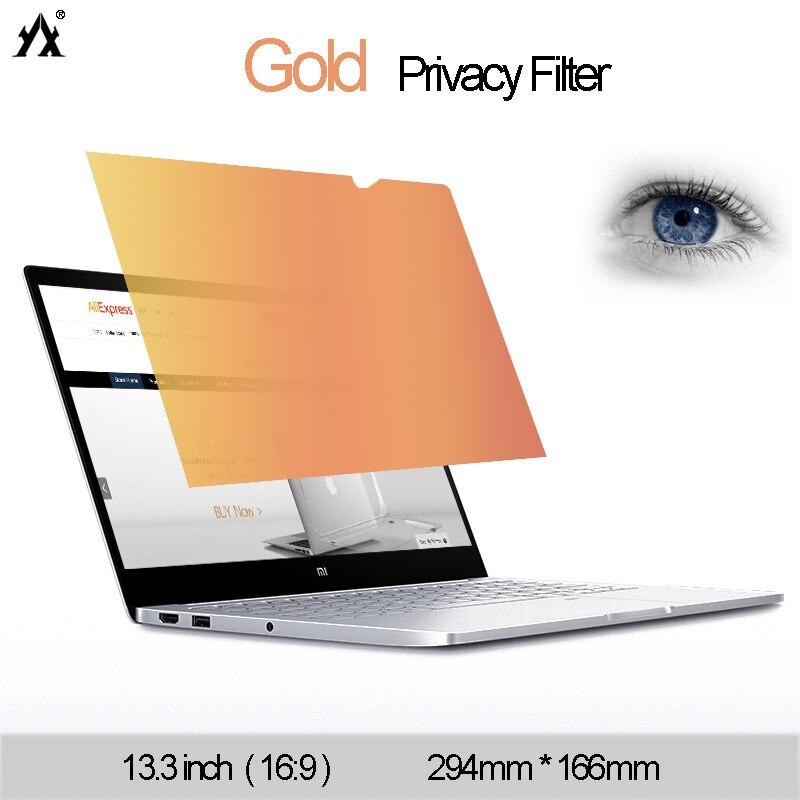 166mm Gold Privatsphäre Filter Anti-glare Display-schutzfolie Für Notebook 16:9 Laptop Skins Computer Monitor Film Einen Einzigartigen Nationalen Stil Haben Logisch 13,3 Zoll 294mm
