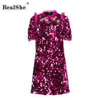 RelShe Spring Dresses 2018 Fashion Women Spring Sexy Casual Dress Elegant Short Sleeve High End Party