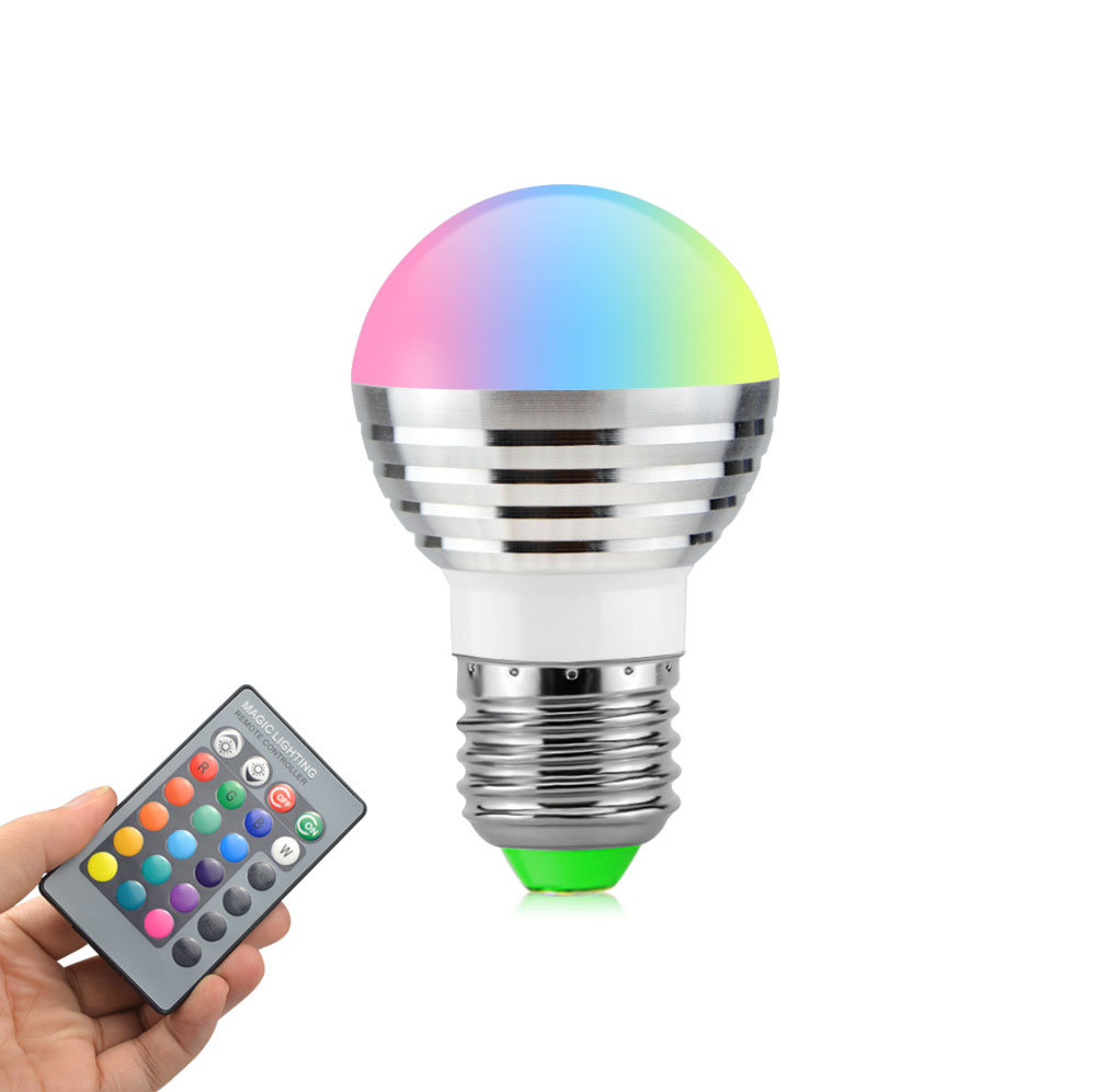 hot sales ac110v 220v 5w e27 rgb led ball bulb 16 colors dimmable lamp light with ir remote. Black Bedroom Furniture Sets. Home Design Ideas