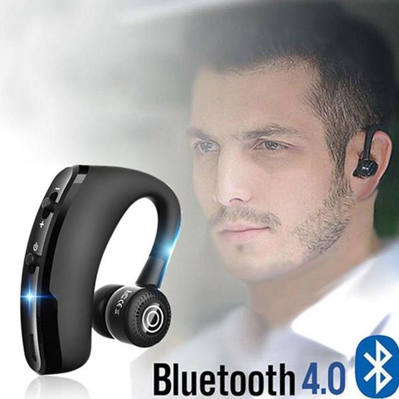 1pc <font><b>V9</b></font> Csr Handsfree Wireless <font><b>Bluetooth</b></font> <font><b>Earphones</b></font> Headphones Noise Reduce Business Headset With Mic Sport Auriculares For Xiaomi image