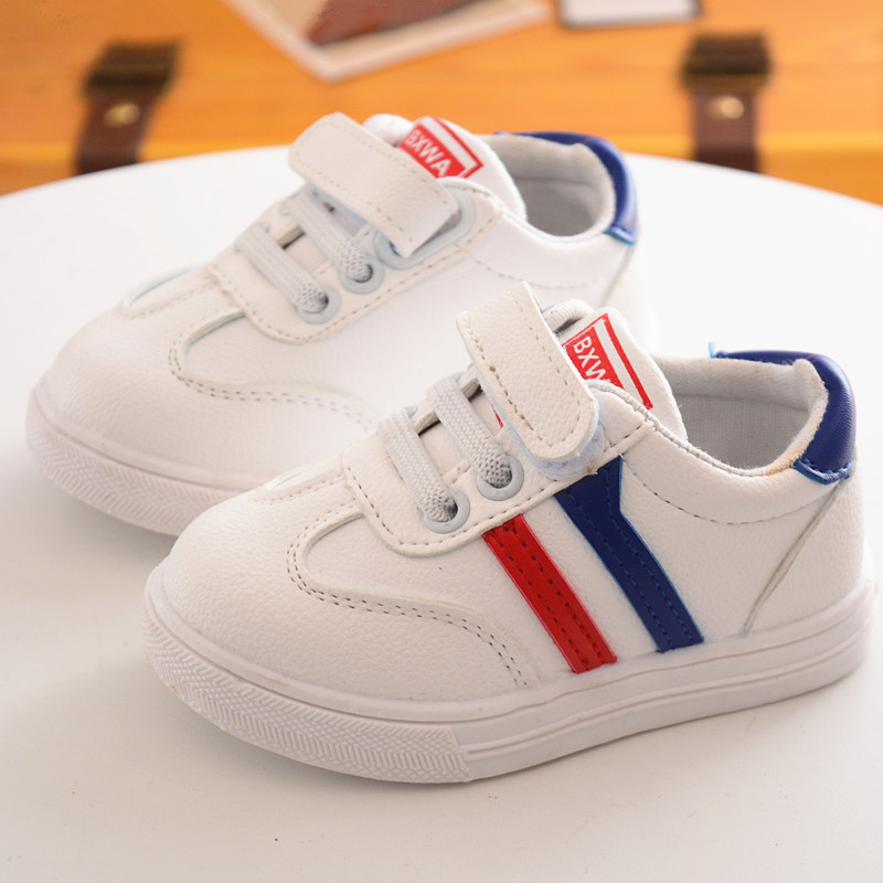 2018 High quality fashion pure breathable children sneakers solid cool cute baby boys girls shoes breathable sports kids shoes