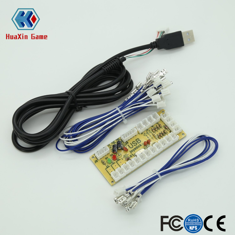 Zero Delay Arcade USB Encoder Pc to Joystick for Mame Jamma & Other Pc Fighting Games ...