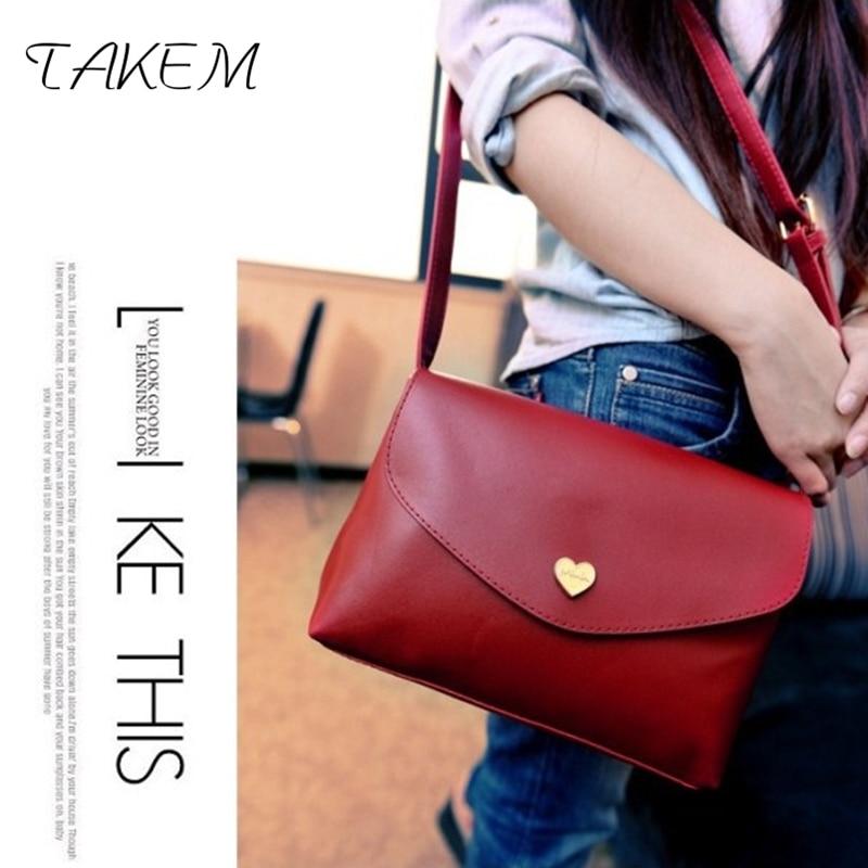 TAKEM 2018 solid Shoulder Bags womens Single strap fashion zipper PU Messenger&Crossbody girls ladies casual tote flap Handbag