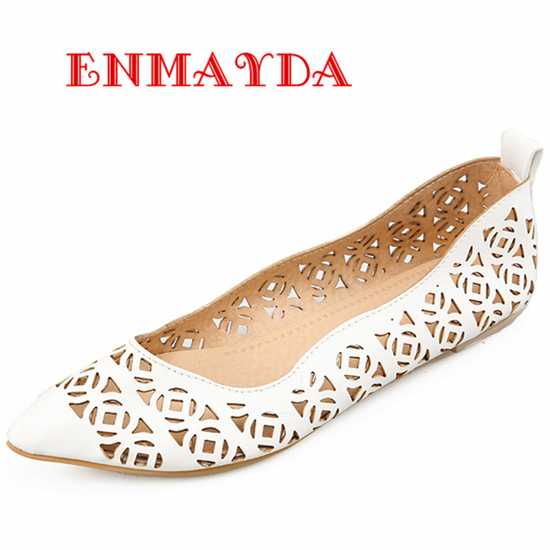 ENMAYDA New font b Women b font Fashion Cut outs Spring and Autumn Flats Shoes font