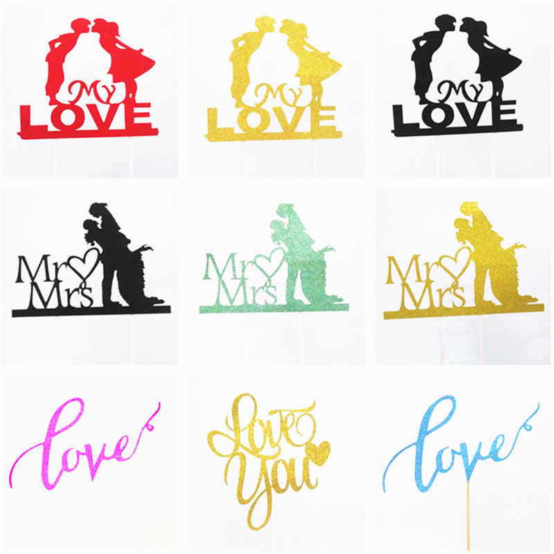 Wedding Cake Topper Wedding Cake Toppers Bride And Groom Wedding Cake Decorations Cupcake Toppers Gold Cupcake Wrapper Cake Flag